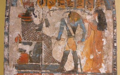 De quoi étaient composées les encres rouges et noires de l'Égypte antique ?